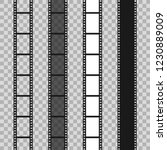 set of different filmstrip roll ... | Shutterstock .eps vector #1230889009