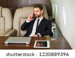 businessman working while... | Shutterstock . vector #1230889396