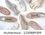 footwear for women. top view... | Shutterstock . vector #1230889399