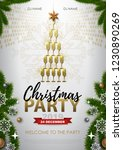 christmas party poster with... | Shutterstock .eps vector #1230890269