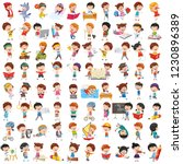 vector collection of cartoon... | Shutterstock .eps vector #1230896389