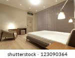 interior of modern bedroom | Shutterstock . vector #123090364