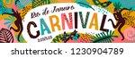 brazil carnival. vector... | Shutterstock .eps vector #1230904789