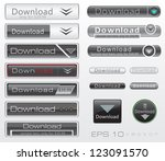 download vector buttons set | Shutterstock .eps vector #123091570
