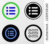 rounded items eps vector...