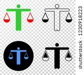 judge eps vector pictograph... | Shutterstock .eps vector #1230918223