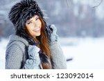 young woman winter portrait....   Shutterstock . vector #123092014