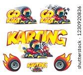 karting logo. go kart icon | Shutterstock .eps vector #1230920836