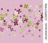 pastel violet background with... | Shutterstock .eps vector #1230927496
