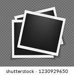 square polaroid realistic... | Shutterstock .eps vector #1230929650