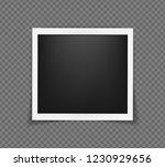 square realistic polaroid frame ... | Shutterstock .eps vector #1230929656