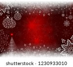 christmas red background with... | Shutterstock .eps vector #1230933010