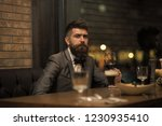 date meeting of hipster... | Shutterstock . vector #1230935410