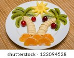 Creative Fruit Dessert With...