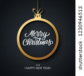 christmas and happy new year... | Shutterstock .eps vector #1230946513
