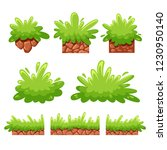 cartoon bushes and grass for...