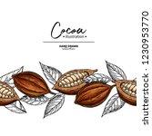 cocoa border. vector superfood... | Shutterstock .eps vector #1230953770