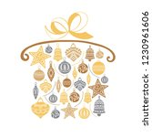 christmas gift  sketch drawing...   Shutterstock .eps vector #1230961606