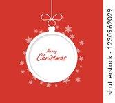 christmas greeting card. xmas... | Shutterstock .eps vector #1230962029