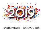 happy new year 2019 sign with... | Shutterstock .eps vector #1230972406