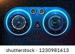 hud dashboard. abstract virtual ...