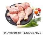 raw chicken legs  drumsticks ... | Shutterstock . vector #1230987823