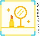 mirror and lipstick icon vector ...   Shutterstock .eps vector #1230991003