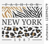 slogan graphic with leopard and ... | Shutterstock .eps vector #1230994279