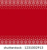geometric knitted ornament...   Shutterstock .eps vector #1231002913
