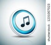 musical notation button... | Shutterstock .eps vector #1231007023