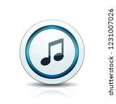 musical notation button... | Shutterstock .eps vector #1231007026