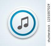 musical notation button... | Shutterstock .eps vector #1231007029