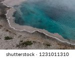 bright turquoise boiling and... | Shutterstock . vector #1231011310