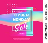 cyber monday concept banner in... | Shutterstock .eps vector #1231012489