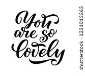 lettering quote about love.... | Shutterstock .eps vector #1231013263