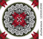 sketch of colored mehndi... | Shutterstock . vector #1231013530