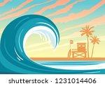 Nature Landscape With Big Wave...