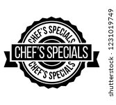 chef specials stamp on white...   Shutterstock .eps vector #1231019749