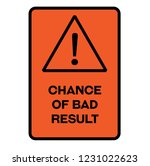 chance of bad result fictitious ...   Shutterstock .eps vector #1231022623