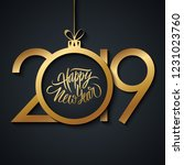 2019 new year greeting card... | Shutterstock .eps vector #1231023760