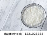 bowl of congee   asian rice... | Shutterstock . vector #1231028383