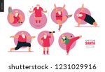 sporting santa   gym exercises  ... | Shutterstock .eps vector #1231029916