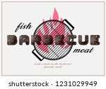 grill or barbecue styling... | Shutterstock .eps vector #1231029949