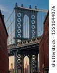 manhattan bridge   brooklyn... | Shutterstock . vector #1231044076