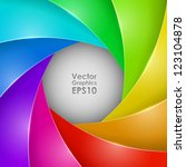 abstract colorful photo shutter ... | Shutterstock .eps vector #123104878