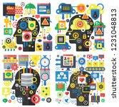 infographic flat design head... | Shutterstock .eps vector #1231048813