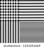 glen plaid pattern in classic... | Shutterstock .eps vector #1231051669