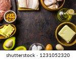 ketogenic diet food. balanced... | Shutterstock . vector #1231052320