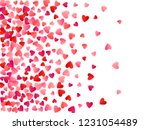 red flying hearts bright love... | Shutterstock .eps vector #1231054489