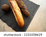 still life with breads on table | Shutterstock . vector #1231058629